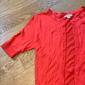 NWOT Merona Coral Red 3/4 Sleeve Cardigan